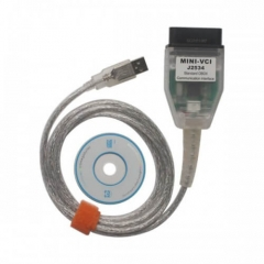 MINI VCI J2534 PassThru Compliant OBD Cable for TO-YOTA