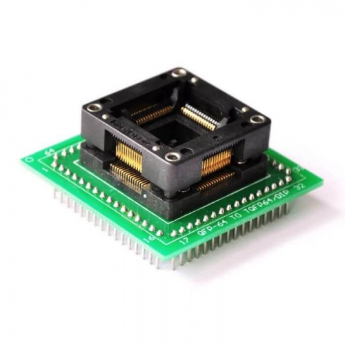 QFP64 MCU IC Test Socket 64 Pin Programming Adapter