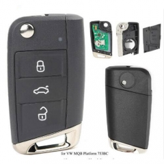 VW MQB Flip Remote Key Fob 434MHz for Golf VII G*TI/ Skoda Octavia A7