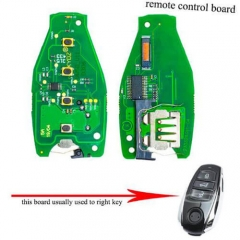 VW Remote Control Board 315MHz/ 434MHz/ 868MHz for 2011-2014 Touareg Smart Remote Card Car Key 3 Buttons