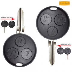 Smart Fortwo 450 Remote Key Shell 3 Buttons with/ without infrared holes for Forfour 451 Roadstar