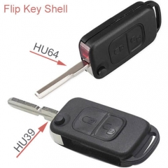 1998-2003 Mercedes-Benz Flip Key Remote Shell 2 Buttons HU39/ HU64 Blade for ML320 ML430