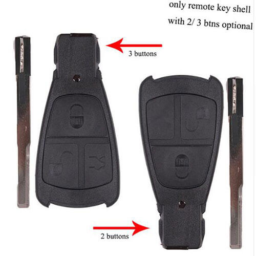 Mercedes Car Key Remote Shell 2/ 3 Button for Benz E C S CLK C230 C43 AMG CL500