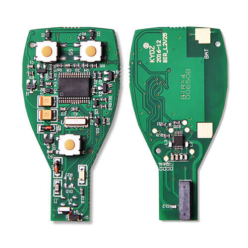 Mercedes BGA Electronic Board for Benz Smart Remote Key Fob 3 Button (Trunk) 315MHz/ 433MHz