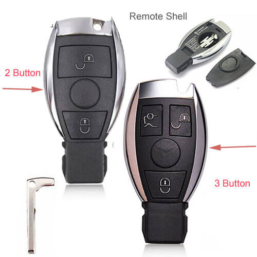 Mercedes-Benz BGA Remote Smart Key Shell 2/ 3 Buttons No Electronic Board