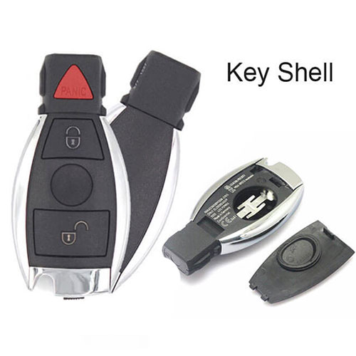Mercedes-Benz BGA Remote Smart Key Shell 3 Buttons (Panic) No Electronic Board