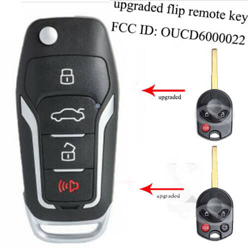 Upgraded Flip Remote Key With 315MHz 4D63 Chip - FOB for Ford Focus C-MAX Escape -OUCD6000022