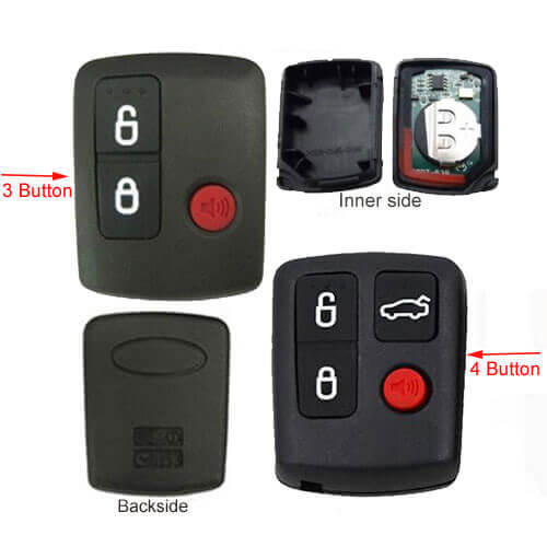 Ford Car Key Remote Transmitter 433MHz 3/ 4 Buttons FOB for BA BF Falcon Sedan Wagon SX