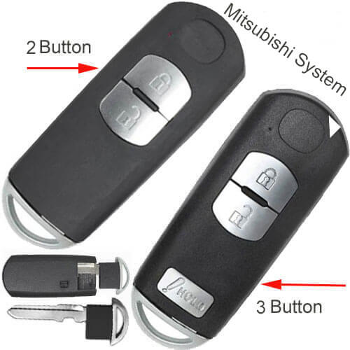 Mazda Smart Key Fob 315Mhz 2/ 3 Buttons For CX-3 CX-5 CX-7 -M*itsubishi System