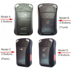 Flip Key Remote Shell 2/ 3/ 4 Buttons for 2004-2009 Pors*che Cayenne