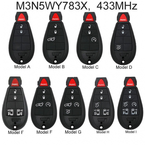 Fobik Remote Fob 433MHz for USA Chry*sler Dodge Jeep M3N5WY783X