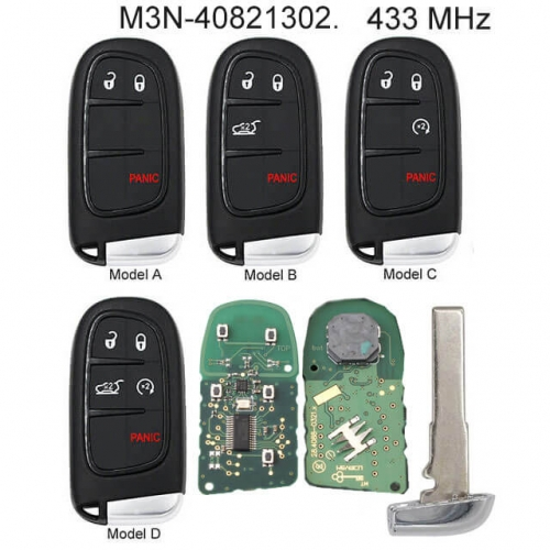 Smart Remote Key Fob 433MHz for 2016-2018 Dodge Charger Jeep Compass Renegade M3N-40821302