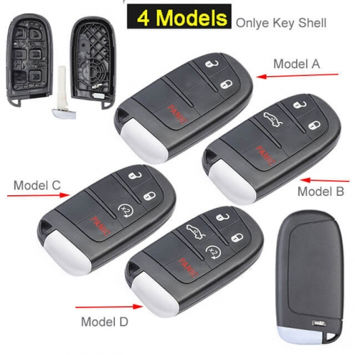 Jeep Compass Renegade Smart Key Remote Shell for Fiat 500 500X 500L Fob