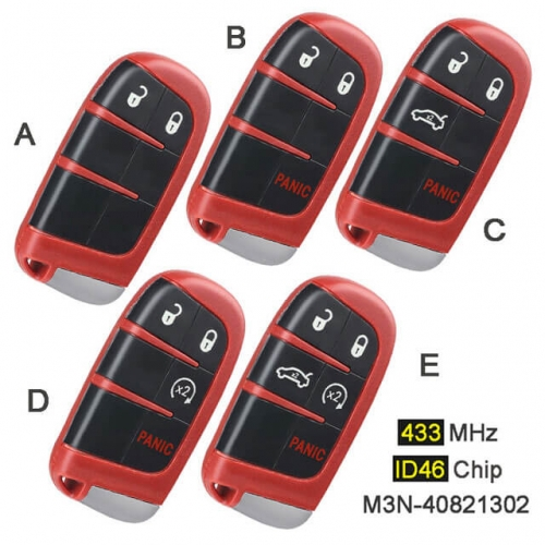Smart Remote Key Fob 433MHz M3N-40821302 for Chry*sler 300, Dodge Charger Durango