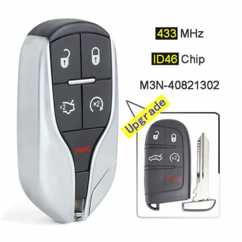 Upgraded Remote Fob 433 MHz-M3N-40821302 for Replace Chry*sler Dodge Challenger Charger Smart Key Fob