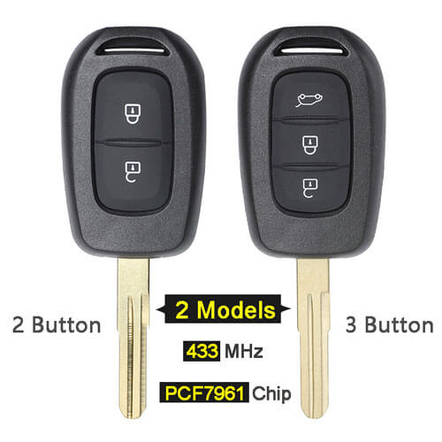 Renaul*t Remote Key 433MHz with PCF7961 Chip for Sandero Symbol Master 3 Logan Clio 4 Duster