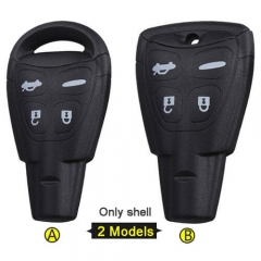 SAAB 9-3 9-5 Smart Key Remote Shell 4 Button 2 Models with Emergency Blade Uncut