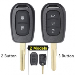 Renaul*t Remote Key Shell 2/3 Button with Uncut Blade for Duster Dokker Trafic Clio4 Master3 Logan