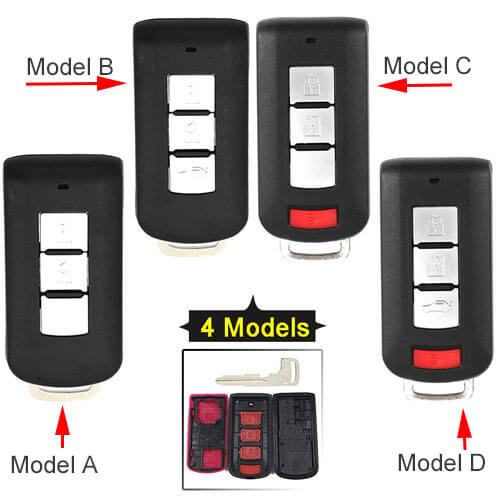 Mitsubish*i Lancer Smart Key Remote Shell with Insert Blade for Outlander Lancer Eclipse Galant