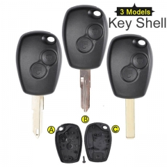 Renaul*t Megane Remote Key Shell 2 Button with Uncut Blade VA6/ NE73/ VAC102