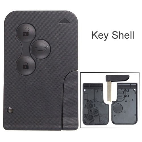 Renaul*t Megane Smart Key Remote Shell 3 Button with Emergency Blade for Koleos Scenic Clio Logan