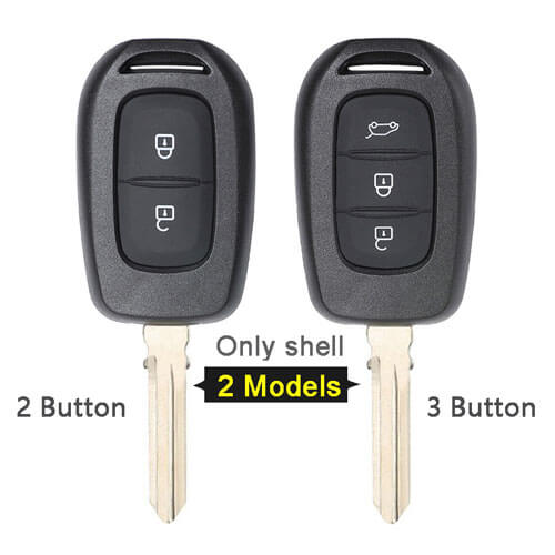 Renaul*t Duster Remote Key Shell 2/3 Button with Uncut Blade for Duster Dokker Trafic Clio4 Master3 Logan