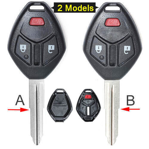 Mitsubish*i Remote Key Shell 3 Buttons Fob for Endeavor Outlander Lancer No Electronics