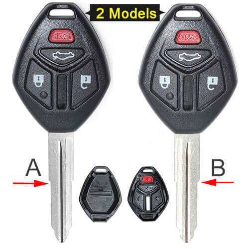 Mitsubish*i Remote Key Shell 4 Buttons Fob for Eclipse Galant No Electronics