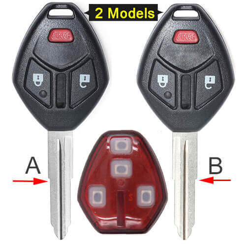 Mitsubish*i Eclipse Galant Remote Key 313.8MHz 3 Buttons Fob -OUCG8D-620M-A