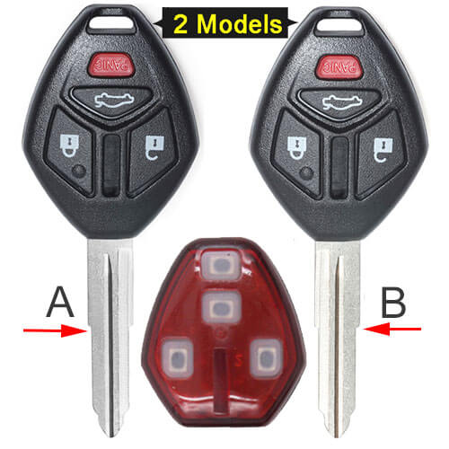 Mitsubish*i Eclipse Galant Remote Key 313.8MHz 4 Buttons Fob -OUCG8D-620M-A