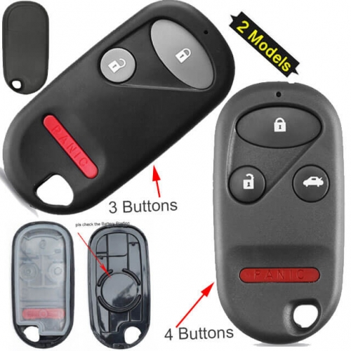 Hond*a Remote Key Shell 3/ 4 Buttons for Civic CR-V Pilot Jazz
