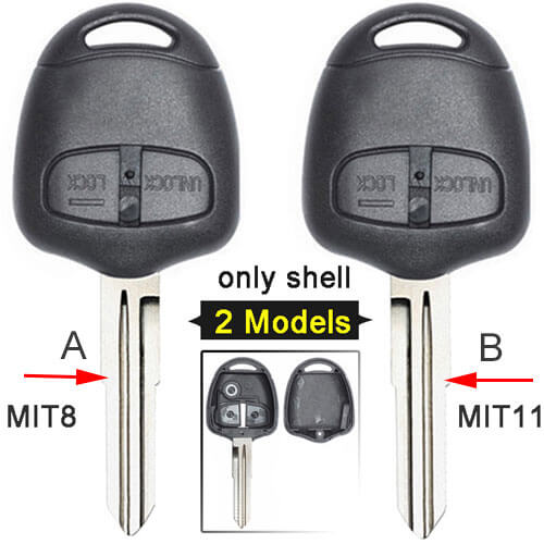 Mitsubish*i Remote Key Shell 2 Buttons Fob for Lancer Pajero Triton Evolution Grandis No Electronics