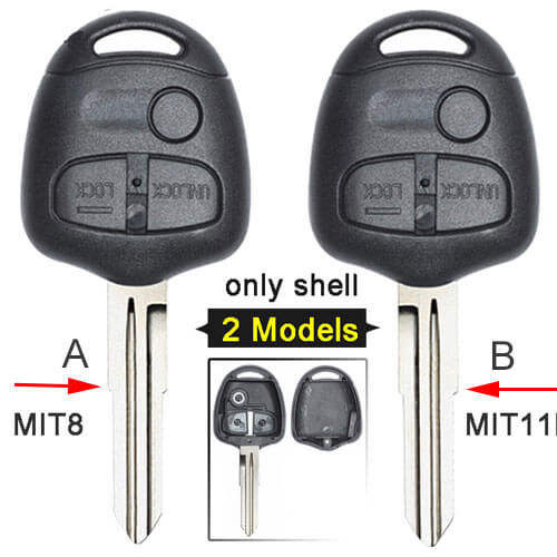 Mitsubish*i Remote Key Shell 3 Buttons Fob for Lancer Mirage Outlander Pajero No Electronics