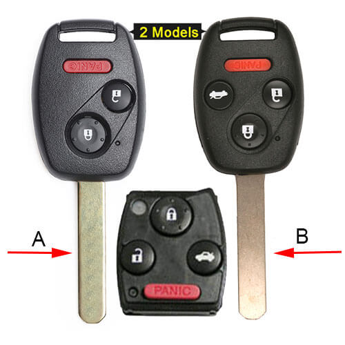 2006-2011 Hond*a CivicRemote Key Fob 313.8MHz 3/ 4 Buttons