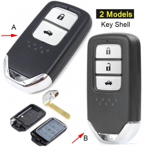 2013-2016 Hond*a Civic Smart Remote Key Shell 2/ 3 Buttons Fob for C-RV Accord