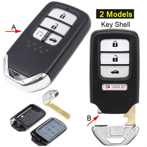 2013-2016 Hond*a Civic Smart Remote Key Shell 4 Buttons Fob for C-RV Accord