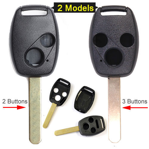 Hond*a Remote Key Shell 2/ 3 Buttons for Accord Civic CR-V CR-Z Pilot Fit Jazz 2005 Before