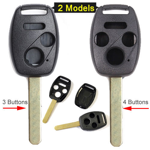 Hond*a Remote Key Shell 3/ 4 Buttons for Accord Civic CR-V CR-Z Pilot Fit Jazz 2005 Before