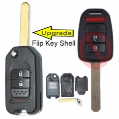 Modified Flip Key Shell 3 Buttons for 2013-2016 Hond*a Accord Civic EU Remote Key Fob
