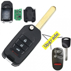 Upgraded 2003-2005 Hond*a Flip Key 433MHz 4 Button Remote Fob for Insigh*t Pilot -A269ZUA101