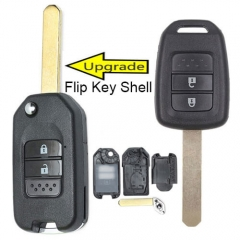 Modified Flip Key Shell 2 Buttons for 2013-2016 Hond*a Accord Civic EU Remote Key Fob