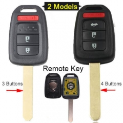 2013-2016 Hond*a Accord Civic Remote Key 313.8MHz 3/ 4 Buttons -MLBHLIK6-1T