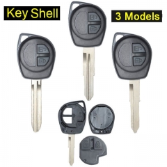 Suzuk*i Liana Remote Key Shell 2 Buttons with Blade Uncut for Grand Vitara Swift Ignis SX4 Alto
