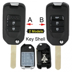 Hond*a Flip Remote Key Shell 2/ 3 Buttons Fob for Fit Marina Wisdom XRV City