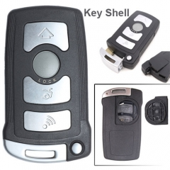 BMW CAS1 Smart Remote Key Shell 4 Buttons with Blade Uncut for 7 Series 745 750Li 760L