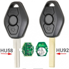 BMW EWS Remote Key Fob 3 Button 315/433MHz Adjustable with ID44 Chip for 3 5 6 7 8 Series M5 M6 Z4 X3 X5