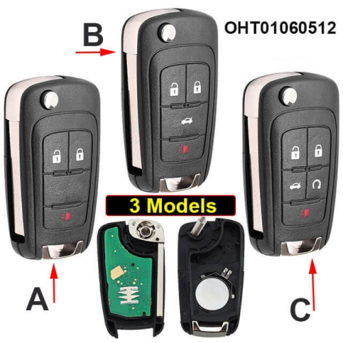 Flip Remote Key Fob for Buick Chevrole*t 315MHz ID46 Chip -OHT01060512