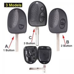 2004-2006 Chevrole*t Pontia*c GTO Combo Remote Key Shell 1/ 2/ 3 Buttons with Blade Uncut