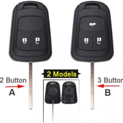 Chevrole*t Combo Remote Key Shell 2/ 3 Buttons with HU100 Blade for Sonic Cruze Camaro Equinox Malibu Spark