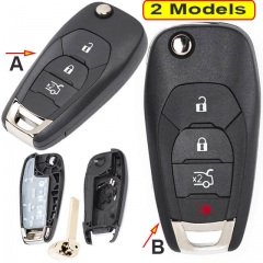 2014-2017 Chevrole*t Aveo Cruze Flip Remote Key Shell 3/ 4 Buttons with HU100 Blade